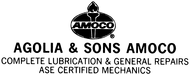 Agolia & Sons AmocoEnjoy 20% off the regular price of any OIL CHANGE
