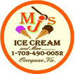 MJ's Ice Cream-N-More Enjoy one complimentary SCOOP when a second SCOOP of equal or greater value is purchased